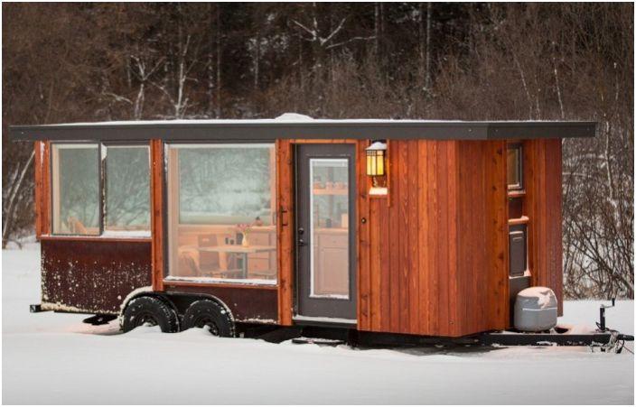 Vista е уютен мобилен дом с площ от 14,8 кв. м.
