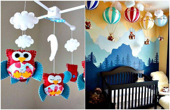 Яркие идеи декора детской комнаты.
