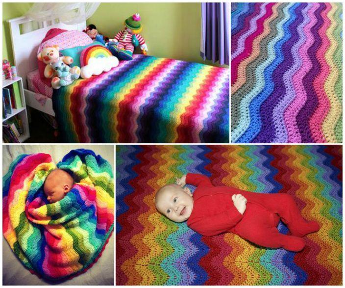 Радужный текстиль для детской.