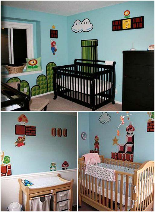 Декор с стен в стиле Супер Марио.
