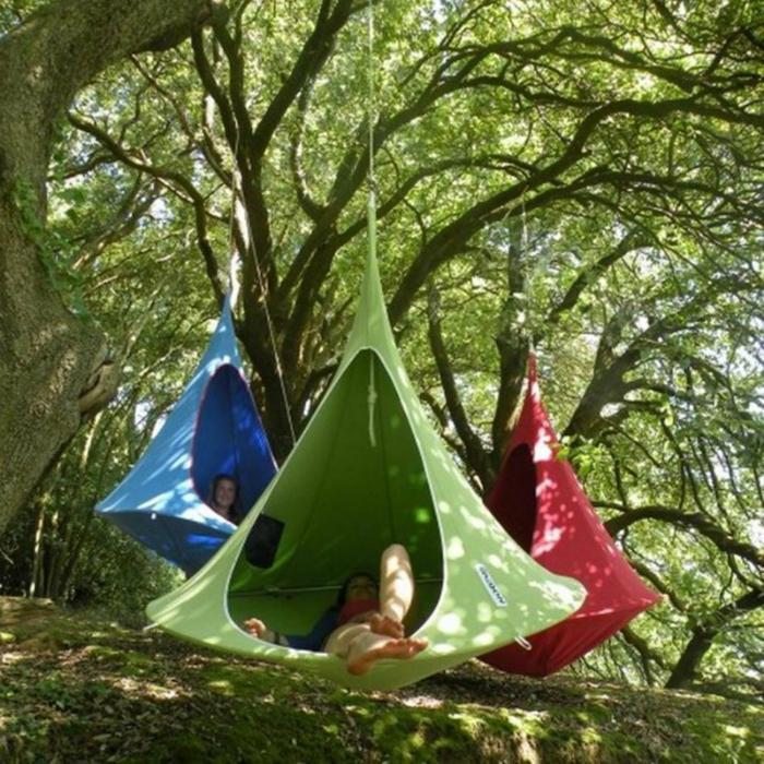 Висяща палатка-пашкул.