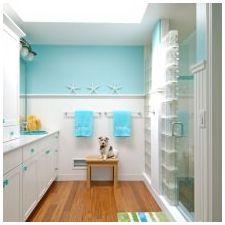 Ванная комната бирюзового цвета-1