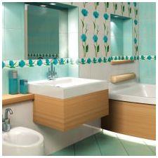 Ванная комната бирюзового цвета-10