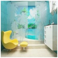 Ванная комната бирюзового цвета-11