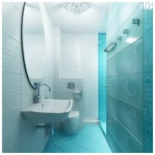Ванная комната бирюзового цвета-12