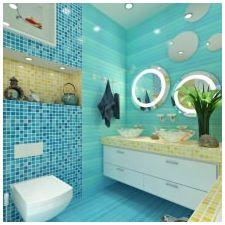 Ванная комната бирюзового цвета-13