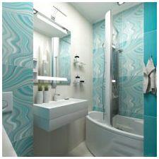 Ванная комната бирюзового цвета-14