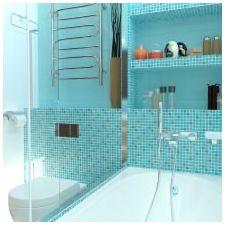 Ванная комната бирюзового цвета-15