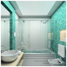 Ванная комната бирюзового цвета-16