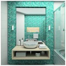 Ванная комната бирюзового цвета-17