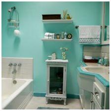 Ванная комната бирюзового цвета-3