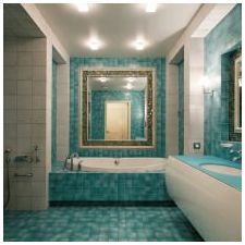 Ванная комната бирюзового цвета-4