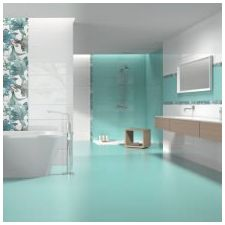 Ванная комната бирюзового цвета-5