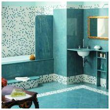 Ванная комната бирюзового цвета-8
