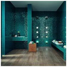 Ванная комната бирюзового цвета-9