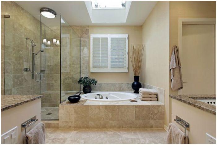 Бежово в банята