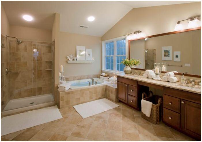 Бежов дизайн на баня