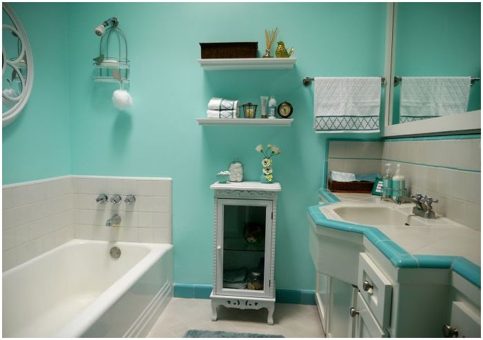 Ванная комната бирюзового цвета