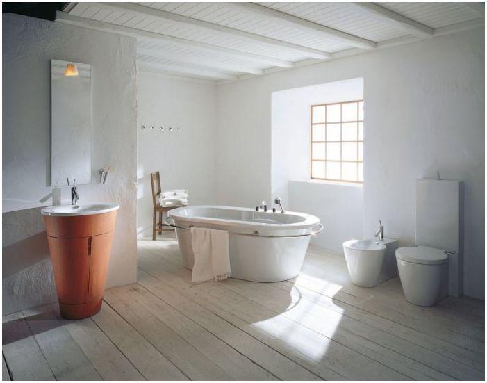 скандинавски стил в банята