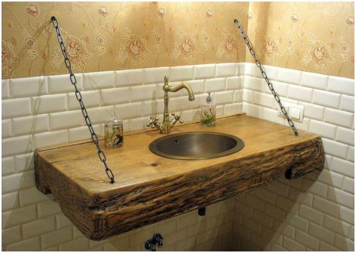 мивка в кънтри стил