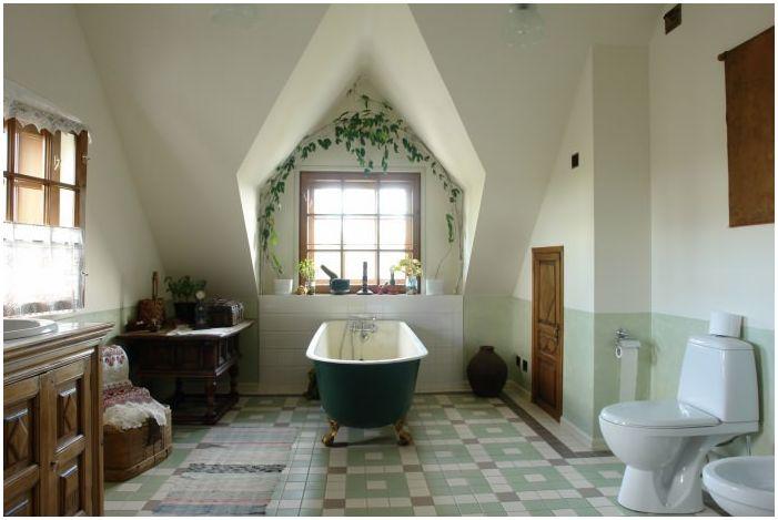 баня в кънтри стил