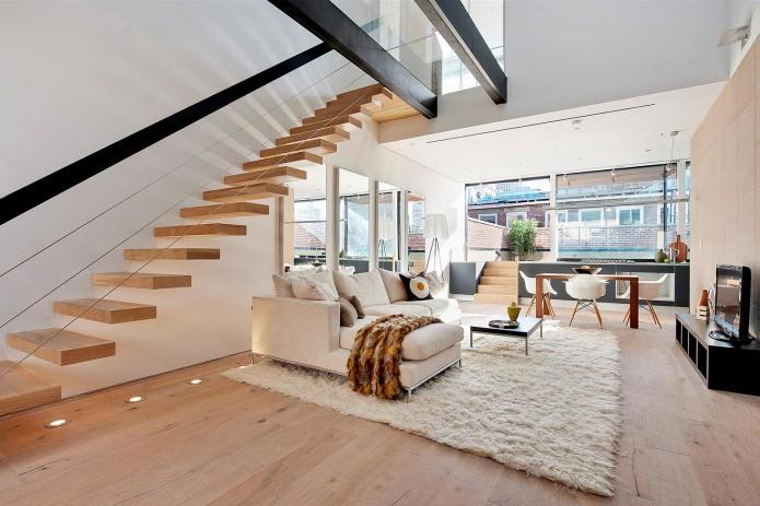 видове стълби в къщата: по стълбите