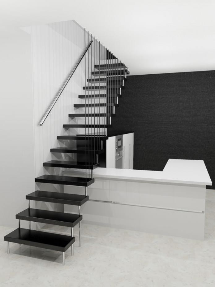 видове стълби в къщата: окачени