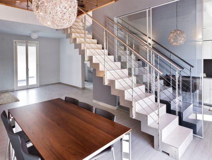 опции за стълби в къщата: прави