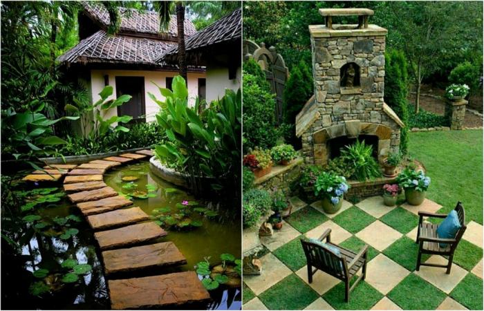 Фантастични примери за дизайн на градинска пътека.