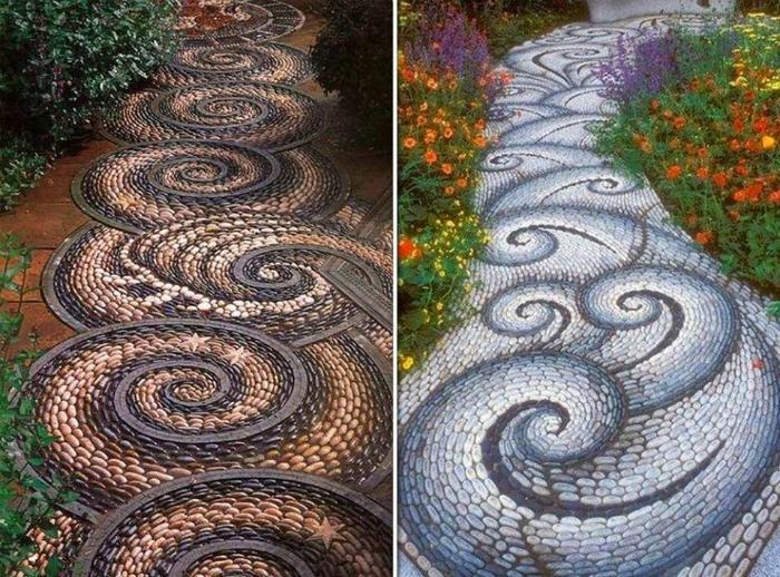 Пътека с камъче мозайка.