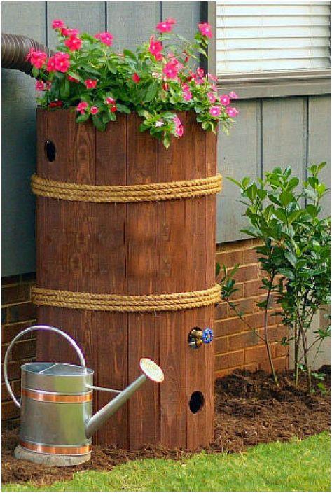 Цев за съхранение на дъждовна вода.
