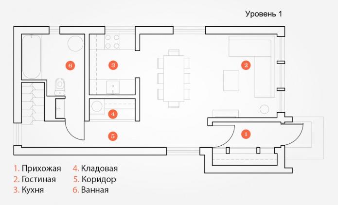 планировка дизайна дома 100 кв. м.