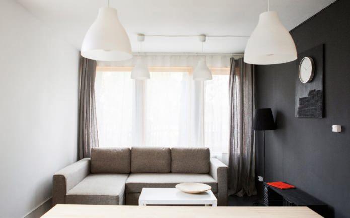 гостиная в дизайне дома 100 кв. м.