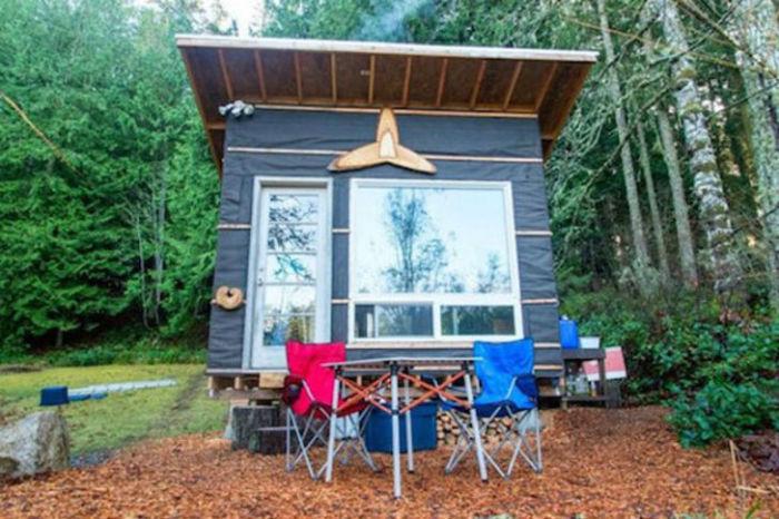 американец построи къща за себе си на стойност само 500 долара.
