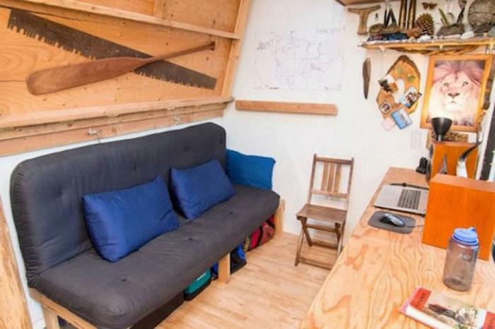 Miniaturowy dom. Wnętrze.