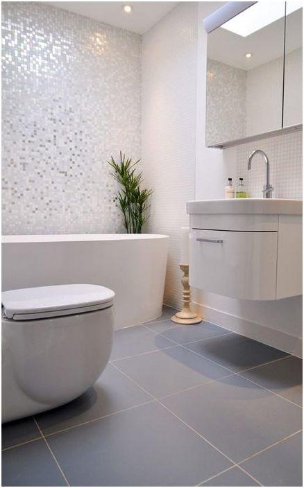 Lakoniczny projekt małej łazienki