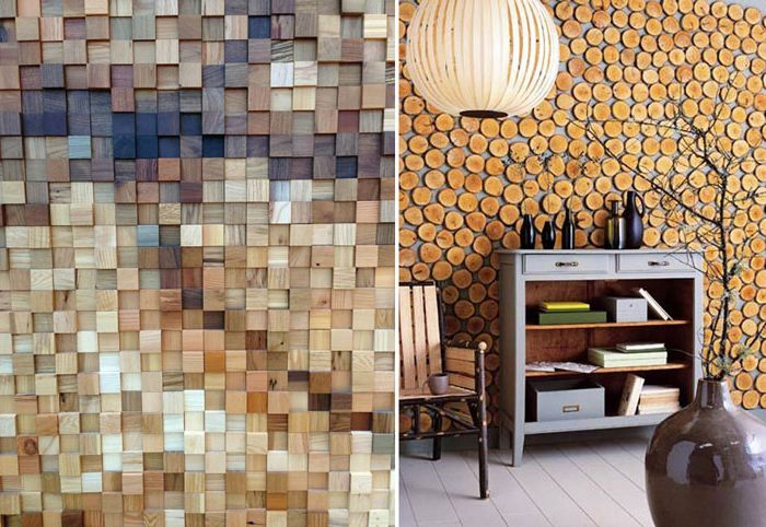 Drewno na ścianach.