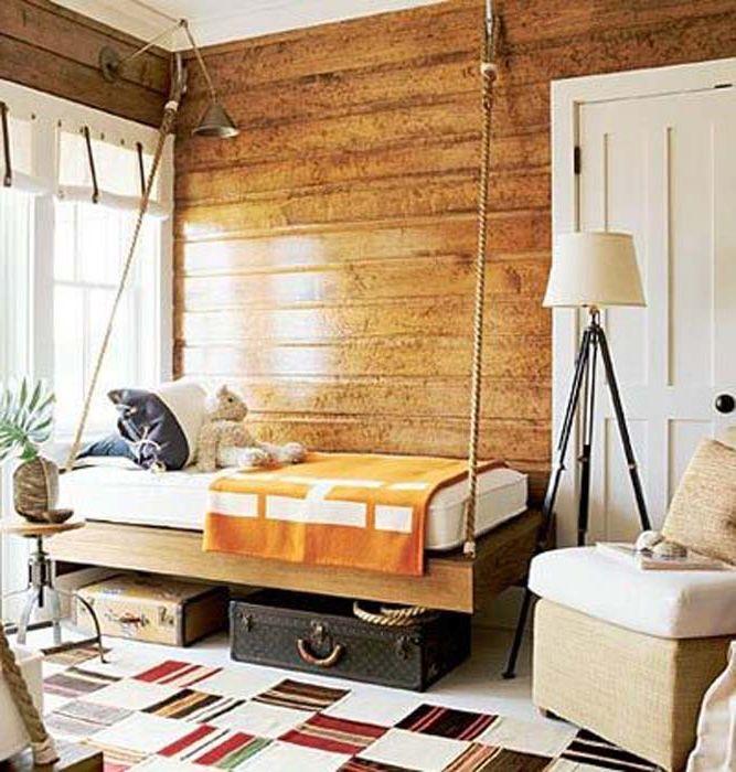 Drewniana dekoracja ścienna.