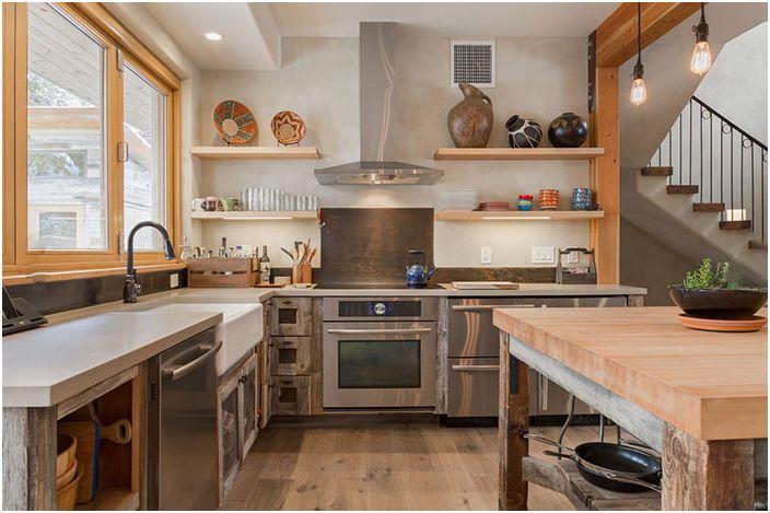 Съсредоточете се върху свободното пространство в кухнята
