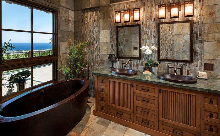 Wnętrze łazienki firmy Jack & lsquo; N Tool Box