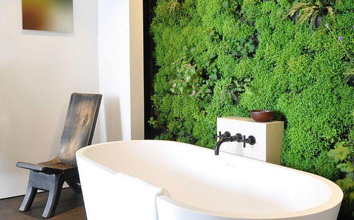 Pionowy ogródek w łazience