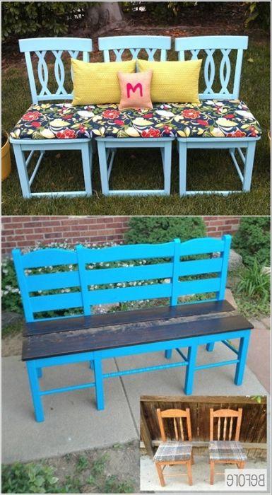 Удобна и сладка пейка с няколко стола.