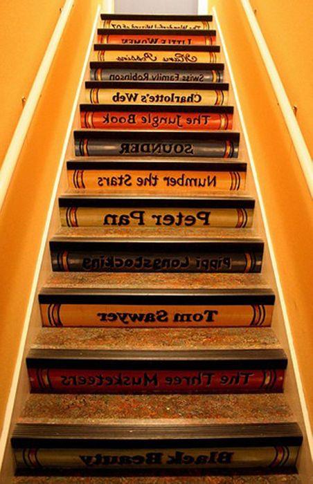 Niezwykłe stopnie schodowe.