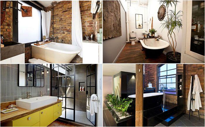 10 потрясающих ванных комнат в индустриальном стиле
