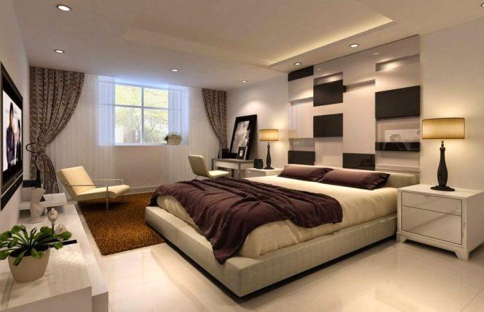 Sypialnia monochromatyczna.