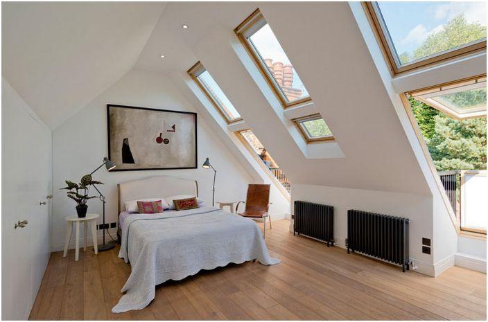 Wnętrze sypialni autorstwa DDWH Architects