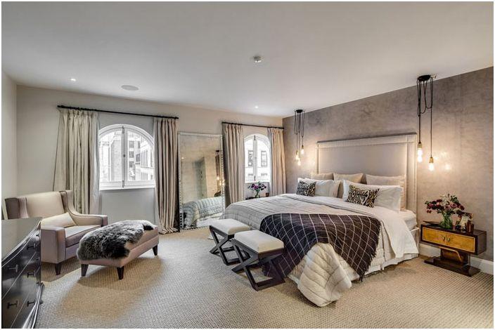 Wnętrze sypialni autorstwa Barlow & Barlow Design