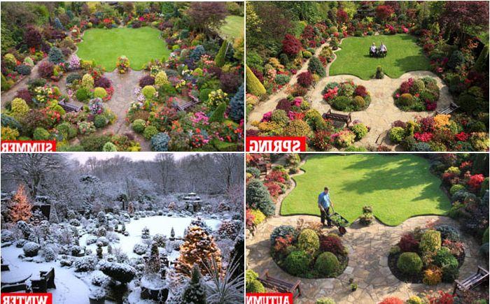 Трябва да вземете предвид сезонността, когато декорирате двора