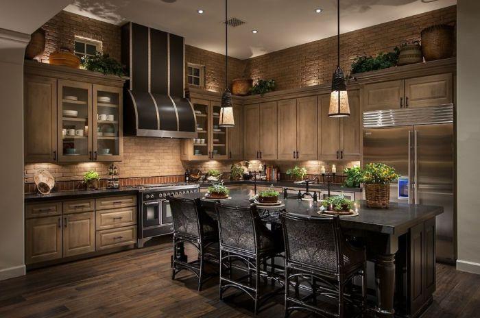 Замечательное сочетание цвета мебели для кухни.