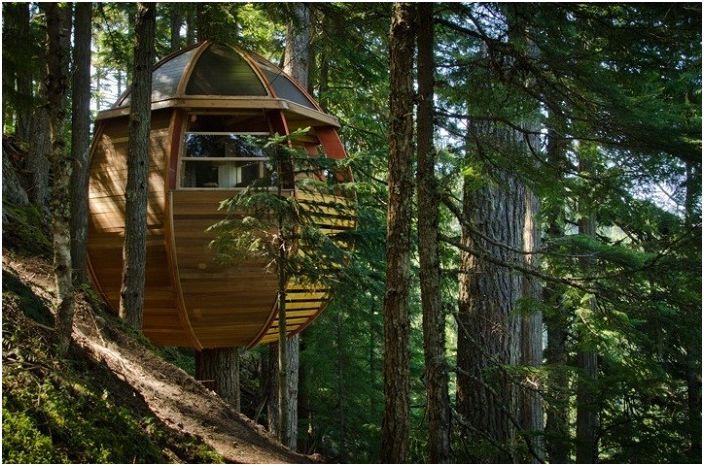 Hemloft е истинска къща с дървета.